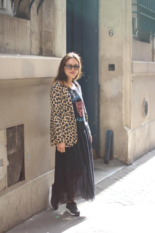 Grace La Petite Banane Sugarsheet Street Style Blogger Paris Parisian leopard jacket