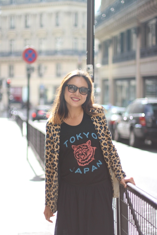 Grace La Petite Banane Sugarsheet Street style Paris Parisian leopard jacket